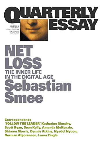 The cover of the quarterly essay, which includes a small inset image of the  Mona Lisa's smile.